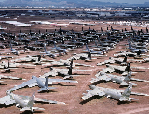 Desert parking for commercial aircrafts